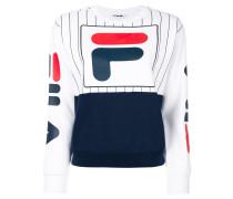 logo front stripe panel sweatshirt