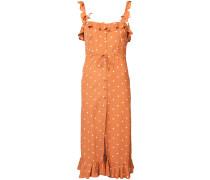 polka dot ruflle trim dress