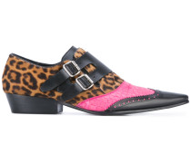 Monk-Schuhe mit Print - women - Leder/Kalbshaar