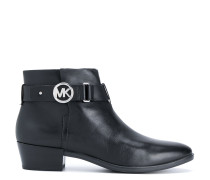 Logo plaque ankle boots
