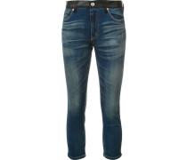 Skinny-Jeans mit karierten Gesäßtaschen