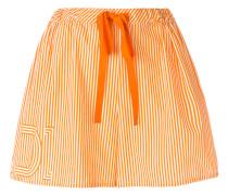drawstring-waist striped shorts