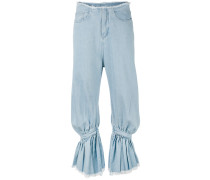 Jeans mit gerafftem Bein - women - Baumwolle - S