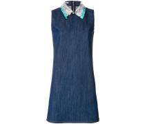 sequin-embellished denim dress