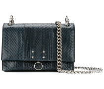 ring detail embossed shoulder bag