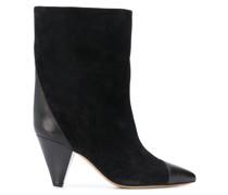 Delter velvet-leather ankle boots