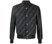 logo-intarsia bomber jacket