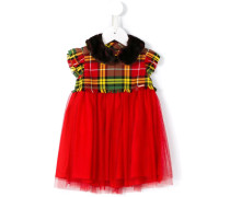 tartan and tulle dress