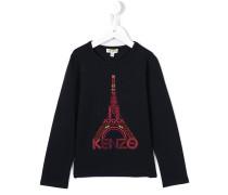 Langarmshirt mit aufgesticktem Eiffelturm