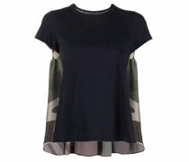 T-Shirt mit Camouflage-Einsatz