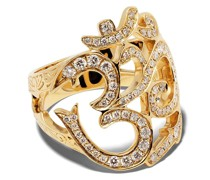 14kt Goldring mit Diamanten