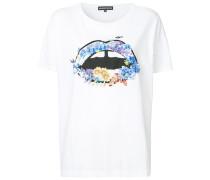 embellished lip print T-shirt