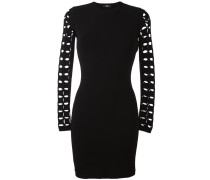 cut-off sleeve detailing dress