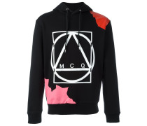 abstract glyph icon print hoodie