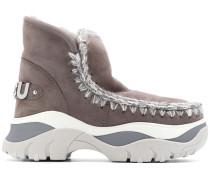 'Eskimo' Stiefel mit gehäkelten Borten