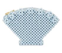 'Shell' Portemonnaie mit Perlen