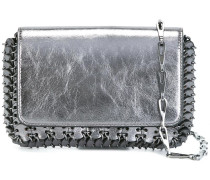 crackled metallic shoulder bag