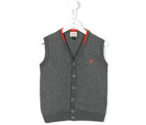 buttoned knit vest