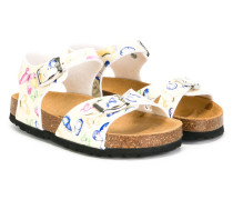 butterfly print sandals