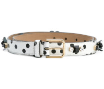 embellished polka dot belt