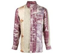 Seidenhemd im Patchwork-Look