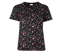all-over star print T-shirt