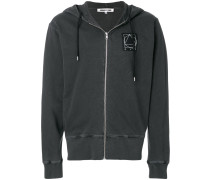 Glyph Icon zipped hoodie