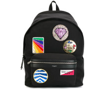'City' Rucksack mit Patches - men - Baumwolle