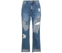 Boyfriend-Jeans im Destroyed-Look