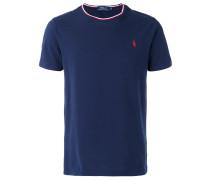 T-Shirt mit gestreiftem Ausschnitt