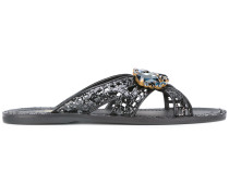 Sandalen mit Glitzerapplikation