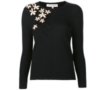 'Standing Floral Embroidery' Pullover