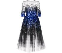 paillette-embellished ombré dress