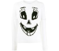 Intarsien-Pullover mit Pumpkin Face