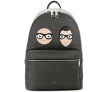 Designer patch backpack