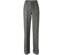 Tweed-Hose mit Bügelfalten - women