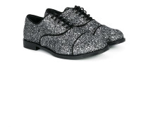 glitter lace-up shoes