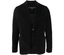 corduroy single-breasted cotton blazer