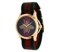 Armbanduhr mit Streifen