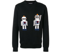 applique robot sweatshirt