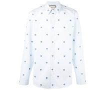 Hemd mit Blumenstickerei - men - Baumwolle - 40