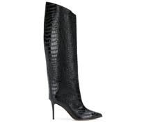 Stiletto-Stiefel mit Kroko-Effekt