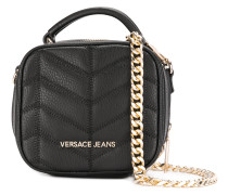 quilted effect crossbody bag