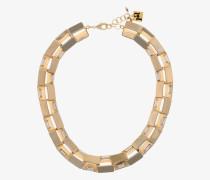 Vergoldete Halskette mit Kristallen