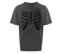 T-Shirt mit Skelett-Print