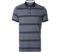 Poloshirt mit zweifarbigen Streifen