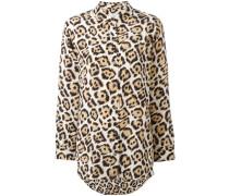Seidenhemd mit Leoparden-Print