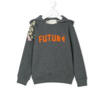 """Kapuzenpullover mit """"Future""""-Stickerei"""