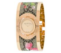 floral cuff watch