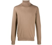 roll-neck fitted jumper